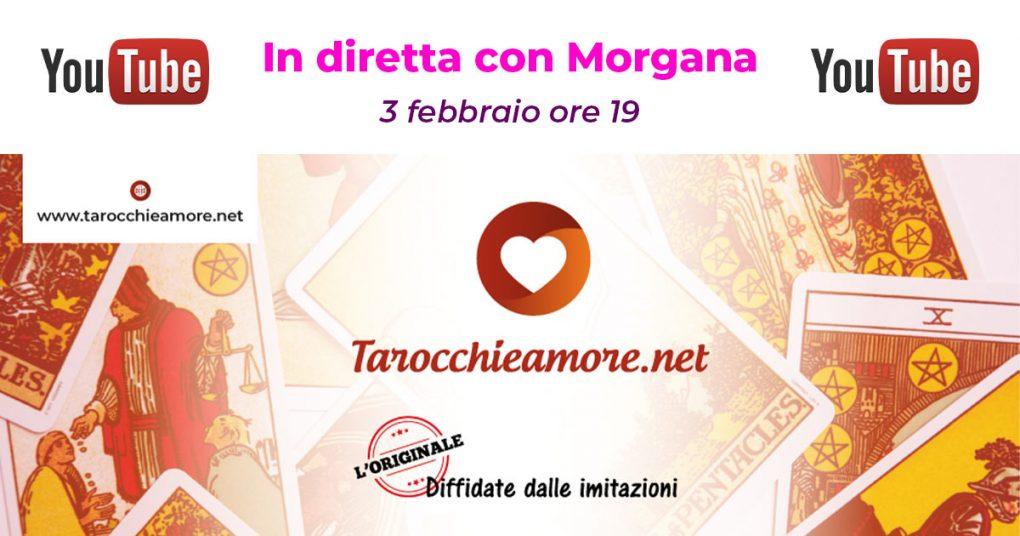 Tarocchi e Amore in diretta con Morgana su YouTube